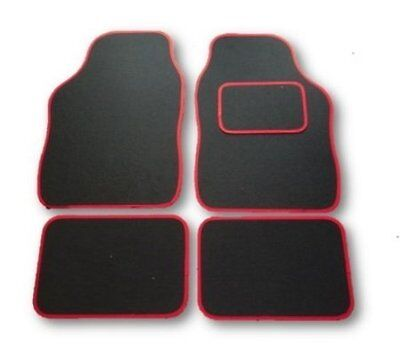 VOLVO XC60 (2008 on)  UNIVERSAL Car Floor Mats Black & Red