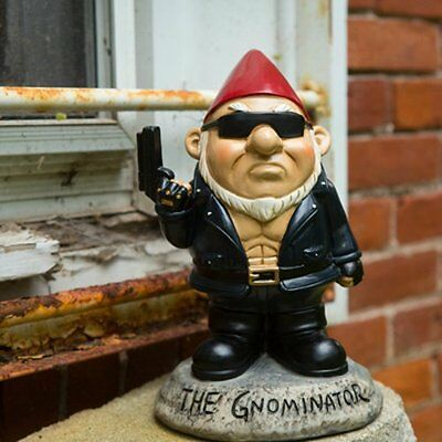 Big Mouth THE GNOMINATOR Garden GNOME - FUNNY Angry MOBSTER Terminator Figure