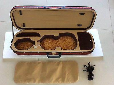 violin case 4/4 Strong Light and durable red color case