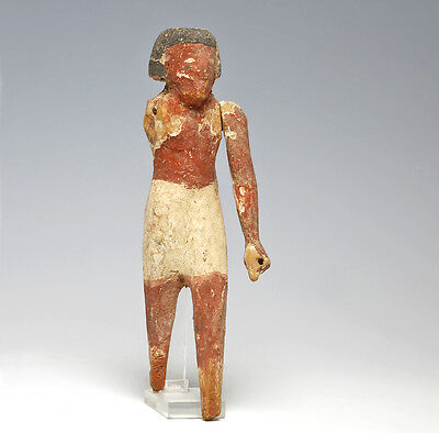 Large Egyptian Middle Kingdom wood servant.