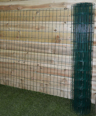 Gardman PVC Coated Garden Fence 10m x 0.6m- Green