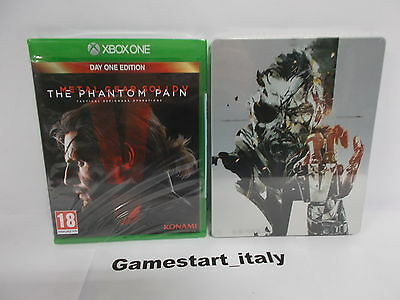 Metal Gear Solid V Phantom Pain Day One Edition + Steelbook Xbox One - Nuovo New