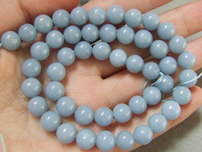 8SE10419   angelite  8mm 15.5'' Round Beads