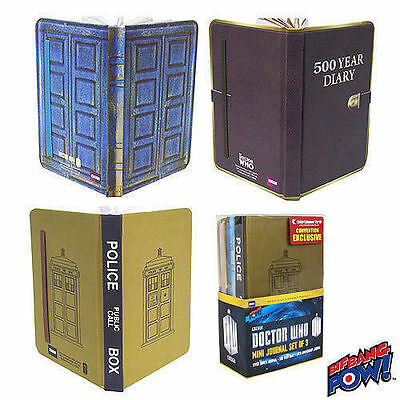 Doctor Who Mini-Journal Set of 3 - Convention Exclusive NEW!