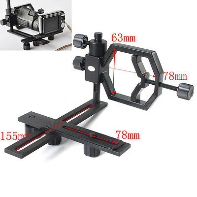 Universal Black Stand Metal Spotting Scopes Telescope Mount For Digital Camera