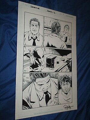 DETECTIVE COMICS ANNUAL #2 Original Art Page #2 Harvey Bullock (BATMAN/DC Comic)