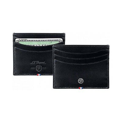 S.T. Dupont  Black Line D Elysee Leather Credit Card Holder, 180008, New In Box