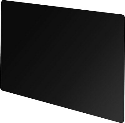 Vitreo Small Radiator Cover in Black Glass, 900mm