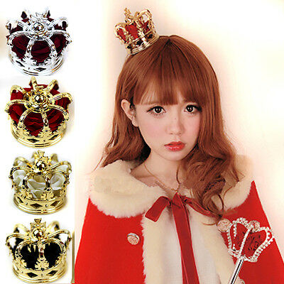Lolita Queen Sexy Lady Bride Rose Crown King Cosplay Props COS Headdress HOT