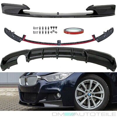 Carbon Performance Front Spoiler + Diffusor Splitter fits on BMW F30 F31 M-Sport