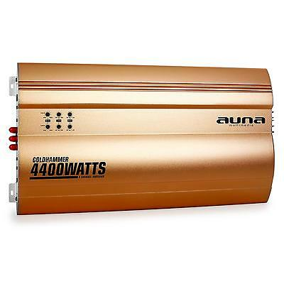 Imperdibile!auna Goldhammer Amplificatore Auto A 4 Canali 4400Watt Oro Superbass