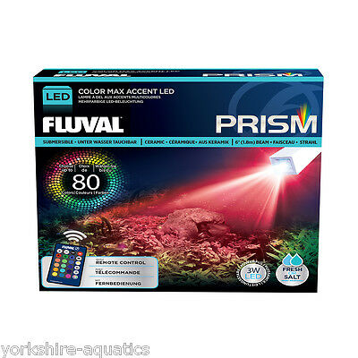 Fluval Prism Ceramic Underwater Aqaurium LED Spotlight with Remote Control 3w