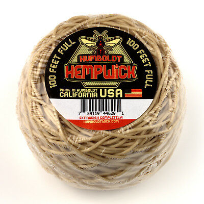 Humboldt Hemp Wick 100ft Roll - Full Flame