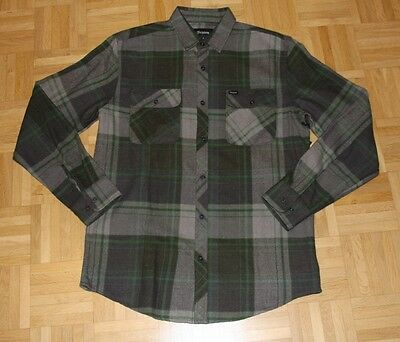 "Brixton Langarm Flanell Hemd ""Bowery"", forrest, Gr. M"