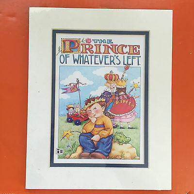 "Mary Engelbreit Double Mat Print ""The Prince Of Whatever'S Left"" - New"