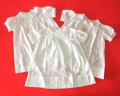 Vintage 3 Handmade Baby Gowns - Made In Philippines - Great For Use Or Decor!