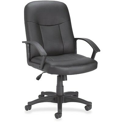 Lorell Leather Managerial Mid-back Chair