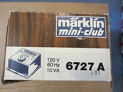Marklin  Z Scale 6727A Transformer New Old Stock In Box With Instructions