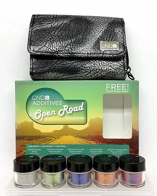 Cnd Additives - OPEN ROAD Collection - 5  Additive Colors + FREE Phone Wallet