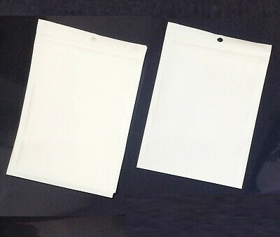 100x  White Clear Plastic Ziplock Sealing Seal Bag 8x13cm for Mobile Spare Parts