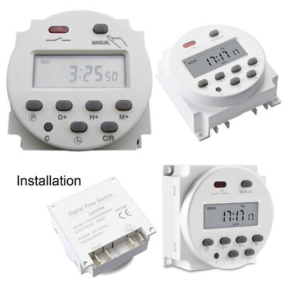 Digital Time Switch Electronic Timer LCD Display Power Relay Programmable DC12V