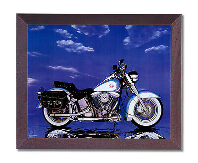 Harley Davidson Heritage Motorcycle Wall Picture Cherry Framed Art Print