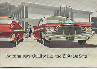 1960 Desoto Automobile Dealers Promotional Brochure