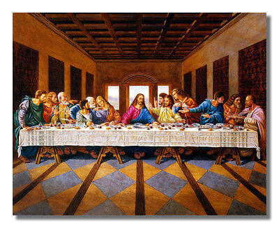 Jesus Christ The Last Supper Religious Wall Picture 8x10 Art Print