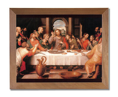 The Last Supper Jesus Christ Religious Wall Picture Honey Framed Art Print