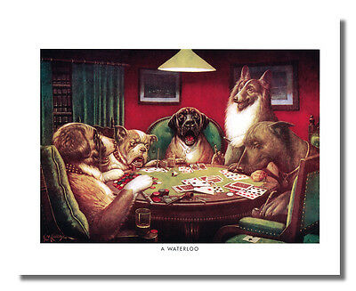 Dogs Playing Poker at Table #5 A Waterloo Wall Picture 8x10 Art Print