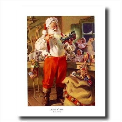 Old St Nick Santa Clause Christmas #3 Wall Picture Art Print