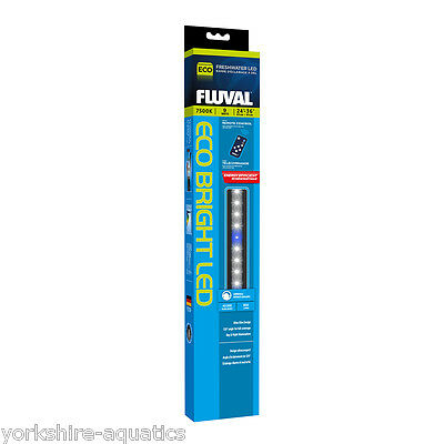 Fluval Eco Bright LED Aqaurium Strip Light 9w 53-83cm for Freshwater Tanks