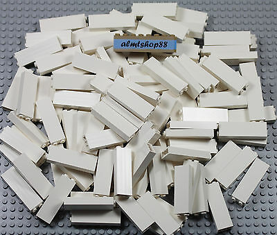 LEGO - White 1x2x5 Wall Bricks - Blocks Pillar Column Beam Part #2454 Lot Bulk