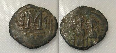 Collectable Byzantine Bronze Coin Of Justin II & Sophia (AD 565/578)