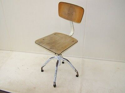 Beautiful age Office Chair Art Deco Swivel Vintage Design Workshop Stools