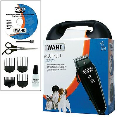 Wahl Pet Dog Clippers Grooming Kit Animal Hair Clipper Trimmer With Case + Dvd