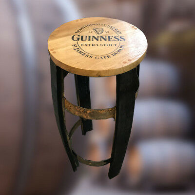 Recycled Solid Oak Whisky Barrel Guinness Bar Stool