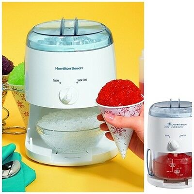 Mini Electric Crusher Kid Shaved Ice Shaver Snow Cone Machine Maker Icy Treats