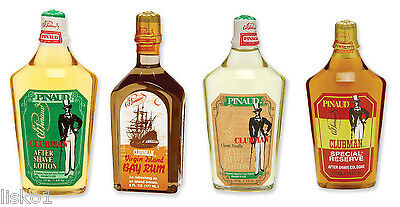 Pinaud Clubman After Shave Classic-Bay Rum-Vanilla-Special Reserve 4-Pack  6oz