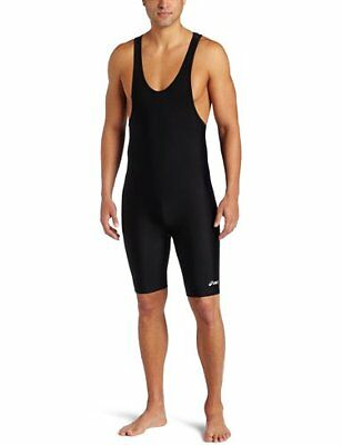 ASICS Mens Solid Modified Singlet, Black, Small