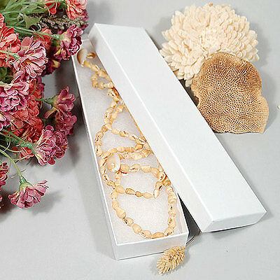 """(10) Necklace/Bracelet Box- 8"""" x 2"""" x 7/8""""- Made in USA  Fast Free Shipping"""