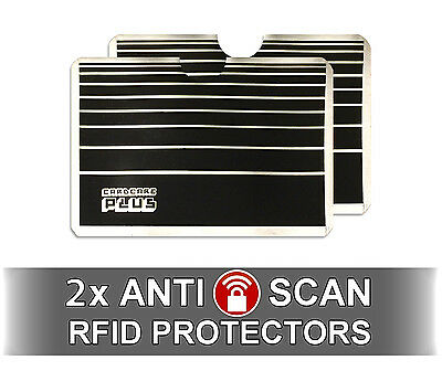 2 x Anti Scan RFID Protectors for your Credit Cards