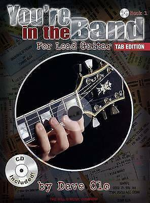 NEW You'Re In The Band For Lead Guitar Book 1 Tab Edition Bk/CD by Dave Clo