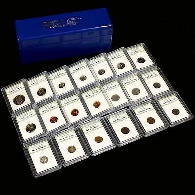Estate Collection #1 with Early Date, Proof + Silver Coins, 20 Slabs w/PCGS Case