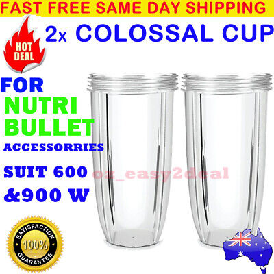 2 NUTRIBULLET COLOSSAL BIG CUP (32OZ) - SUITS All 600/900W Nutri Bullet Models