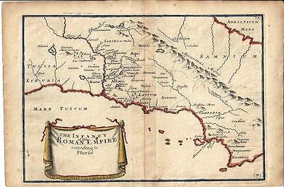Maps Classical Geography Infancy Roman Empire Browne 1725 Antique Print