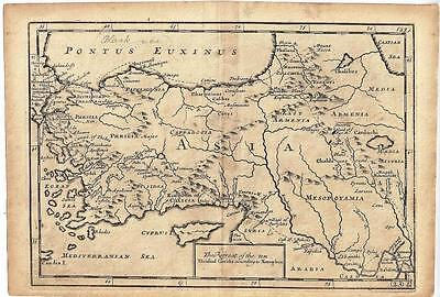 Maps Classical Geography Retreat ten thousand Greeks Xenophon Browne 1725 Ant...