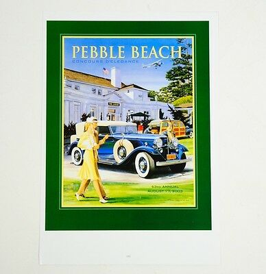 "Pebble Beach Concours d'Elegance 53rd Annual Aug. 2003 Poster 9.25"" x 13"""