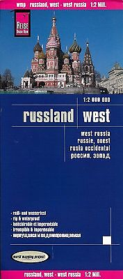 Map of Western Russia, West Russia - by Reise Know How Maps