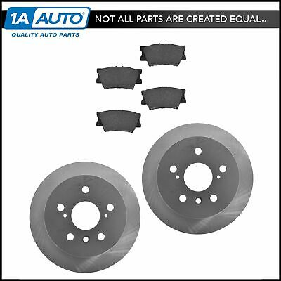Posi Ceramic Brake Pads & E-Coated Rotor Set Rear for Lexus Toyota